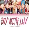 عکس لیریک آهنگ Boy with luv از BTS..❥︎♫︎